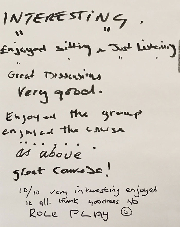 Age UK training feedback from session on 6th November 2018